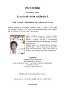 literární večer s Jarmilou Rýdlovou