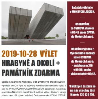 2019-10-28 výlet Hrabyně +Památník zdarma